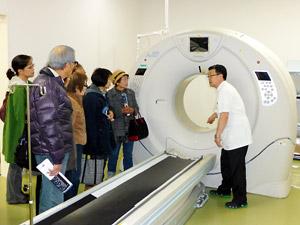 世界最高水準の装置を導入したCT室。より高速・高画質な画像を取得でき、より正確な画像診断が可能になった