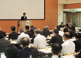 大阪市内で開かれた大薬協総会