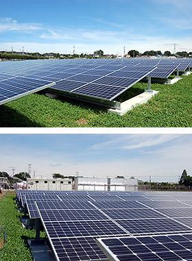 約4万m2の敷地内に太陽電池モジュール約1万枚を設置した