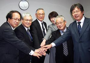 左から佐藤、土屋、北田、松田、木平、松原の各氏