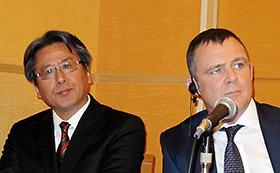 左から加藤永生氏、グレッグ・フリン氏