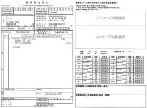 九州大学病院の院外処方箋。検査値に加えて、病院と薬局間の連絡事項を記入する欄を設けた