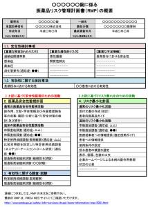 A4用紙1枚で分かりやすく閲覧できる医薬品リスク管理計画書(RMP)の概要