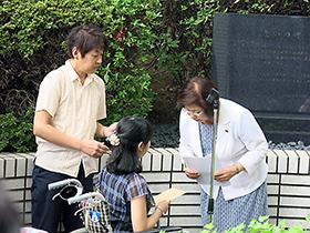 薬害被害者の要望を聞く永岡桂子副大臣