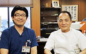 清野裕氏(右)と矢部大介氏