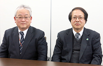 左から木平健治氏、佐藤博氏