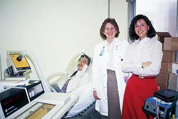 写真1:ケンタッキー大学NST(左から筆者、薬剤師、看護師)