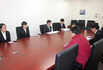 上田薬剤師会で上田の分業について合葉常務、中村理事と質疑
