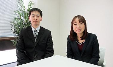 坂口倫章さん(左)、早坂香保里さん