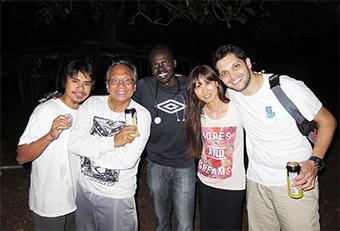 南スーダンで一緒に活動したチームスタッフ。仲が良く抜群のチームワークだった(右から2人目が井上さん)