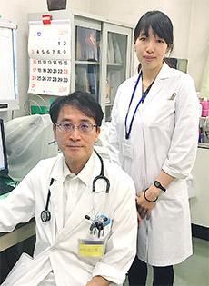 左は担当している医療機関の治験責任医師、右は山本さん