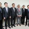 左から、川上純一、森昌平、山本信夫、田尻泰典、乾英夫、安部好弘の各氏