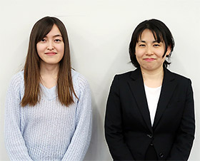 代表を務める吉田さん(左)と講師の西崎さん