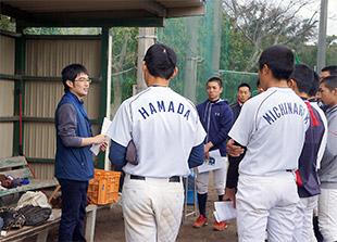地元の野球部にアンチ・ドーピングを啓発