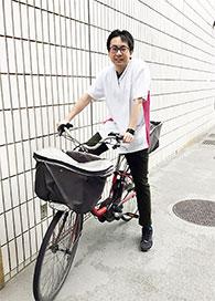 在宅訪問は自転車で移動