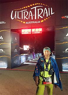 19年5月に出場した「ウルトラトレイルオーストラリア」では100kmを約22時間で完走した(藤田さん提供)